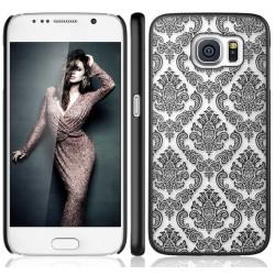 Cover damascata Samsung S6 G920 serie DAMASCO STILEITALIANO pizzo ricamata NERA