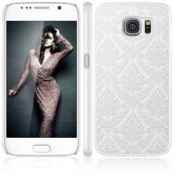 Cover damascata Samsung S6 Edge G925 DAMASCO STILEITALIANO pizzo ricamata BIANCA