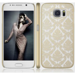 Cover damascata Samsung S6 Edge G925 serie DAMASCO STILEITALIANO pizzo ricamata ORO