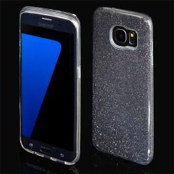 Cover morbida per Samsung S7 G930 serie GLITTER STILEITALIANO con brillantini Nera