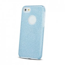 Cover morbida per Samsung S8 G950 serie GLITTER STILEITALIANO con brillantini CELESTE