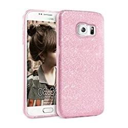 Cover morbida per Samsung  S6 G20 serie GLITTER STILEITALIANO con brillantini rosa