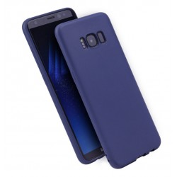 Cover per Samsung S7 EDGE G935 serie Soft-Touch Stileitaliano morbida opaca BLU