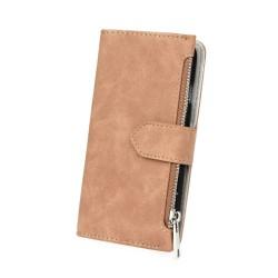 Cover per Huawei P8 Lite serie Wallet Stileitaliano flip portafoglio Marrone