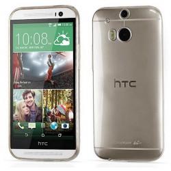 COVER MORBIDA PER HTC ONE M8 ULTRASOFT STILEITALIANO  IN SILICONE NERA