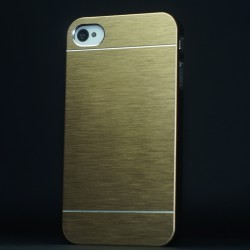 Cover custodia IPHONE 6 plus 5,5 ALLUMINIO STILEITALIANO ORO
