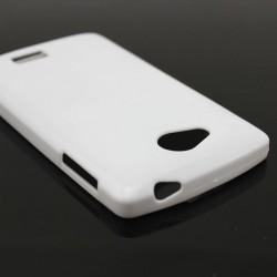 Cover morbida per SONY Z3 COMPACT ULTRASOFT2 Stileitaliano®  spessore maggiorato 1,2mm in TPU BIANCA -