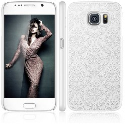 Cover damascata Samsung S6 Edge G925 DAMASCO STILEITALIANO pizzo ricamata BIANCA
