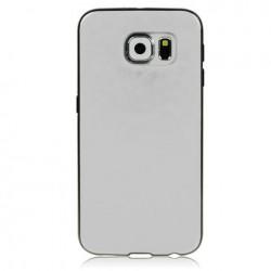 Samsung S6 Edge G925 Base4 cover Morbida Personalizzata Bordi NERI spessore 1,2mm -