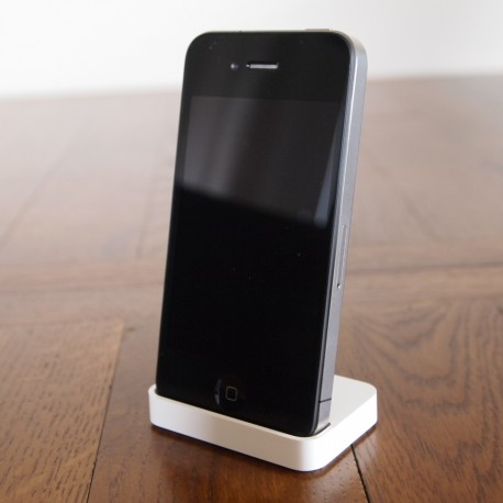 Base ricarica DOCKING STATION iPhone4 4S SUPPORTO BIANCO -