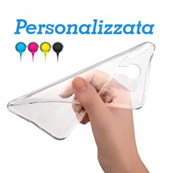 HTC M9 Base1 Cover morbida personalizzata Trasparente -