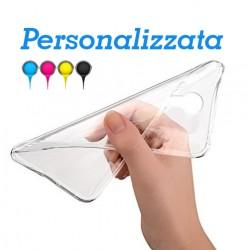 HTC M8 Base1 Cover morbida personalizzata Trasparente