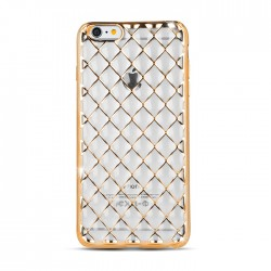 Cover morbida Huawei P9 serie 3D-GRID Stileitaliano® ORO