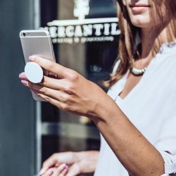 Pop up socket stand supporto cellulare con adesivo Bianco