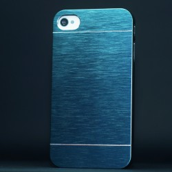 Cover Cover IPHONE 4 4S ALLUMINIO Stileitaliano® BLU