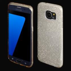 Cover morbida per Samsung J3 2018 serie GLITTER Stileitaliano® con brillantini Oro