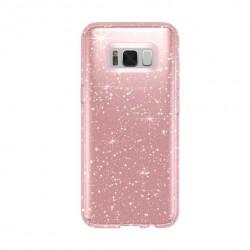 Cover morbida per Samsung A9 2018 serie GLITTER STILEITALIANO con brillantini ORO Rosa