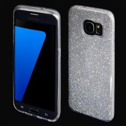 Cover morbida per Samsung J7 2018 serie GLITTER STILEITALIANO con brillantini Argento
