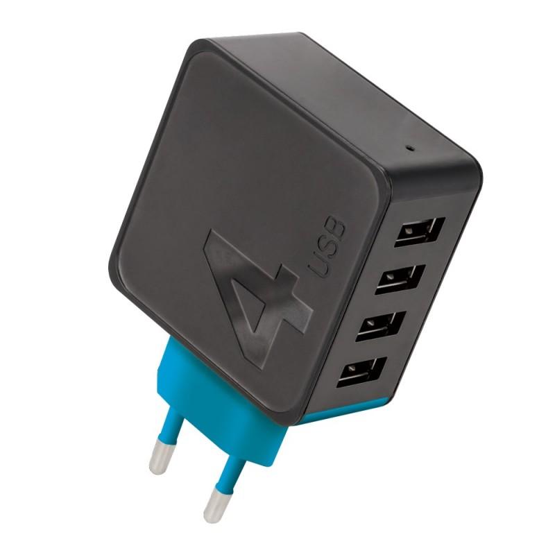 Caricabatterie universale per cellulari 4 porte usb 4 8a for Spranga universale per porte