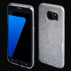 Cover morbida per Samsung S10 LITE G973 serie GLITTER STILEITALIANO con brillantini Argento