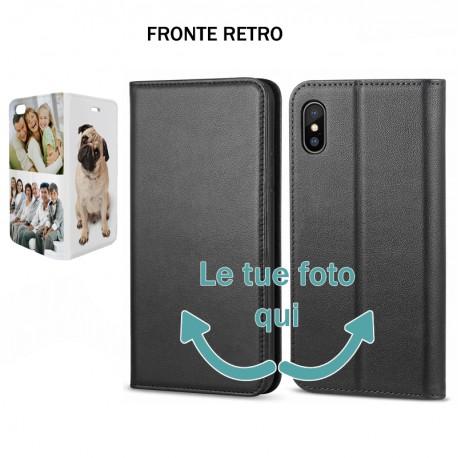 Base5 Huawei P20 Pro Solo Fronte Cover flip sportellino personalizzata Nera -