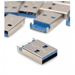 CONNETTORE SOCKET USB 3.0 MASCHIO ORIZZONTALE A SALDARE