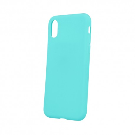 Cover per IPHONE XS MAX serie Soft-Touch Stileitaliano® morbida opaca Acquamarina -
