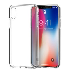 Cover Morbida per iPhone X - XS Serie ULTRASOFT Stileitaliano in silicone TPU sottile Trasparente