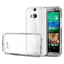 Cover Morbida per  HTC M8 Serie ULTRASOFT Stileitaliano in silicone TPU sottile Trasparente