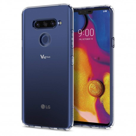 Cover Morbida per LG V40 Serie ULTRASOFT Stileitaliano® in TPU Trasparente