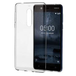 Cover Morbida per Nokia 5.1 Plus X5 2018  Serie ULTRASOFT Stileitaliano in silicone TPU sottile Trasparente