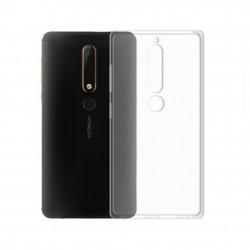 Cover Morbida per Nokia 6.1 Plus X6 2018 Serie ULTRASOFT Stileitaliano in silicone TPU sottile Trasparente