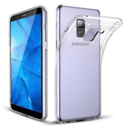 Cover Morbida per Samsung A8 2018 Serie ULTRASOFT Stileitaliano in silicone TPU sottile Trasparente