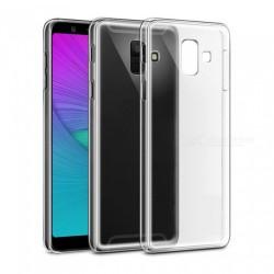 Cover Morbida per Samsung A6 PLUS 2018 A605 - J8 2018 Serie ULTRASOFT Stileitaliano in silicone TPU sottile Trasparente