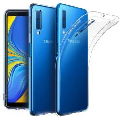 Cover Morbida per Samsung A7 2018 A750 Serie ULTRASOFT Stileitaliano in silicone TPU sottile Trasparente