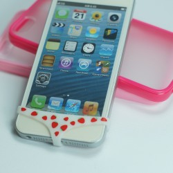 ANTIPOLVERE SLIP MUTANDINE MUTANDA FRAGOLINE PER IPHONE 3G 3GS 4 4S 5 5S 5C
