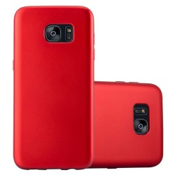 Cover per Samsung  S7 EDGE G935 serie Soft-Touch Stileitaliano® morbida opaca ROSSA