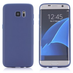 Cover per Samsung S7 EDGE G935 serie Soft-Touch Stileitaliano® morbida opaca BLU