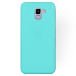 Cover per Samsung J6 2018 J600 serie Soft-Touch Stileitaliano® morbida opaca Acquamarina