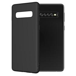 Cover per Samsung S10 PLUS G975 serie Soft-Touch Stileitaliano® morbida opaca NERA