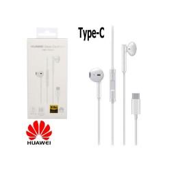 Cuffie auricolari ORIGINALI Huawei CM33 Type-C universali con microfono tasti volume bianche