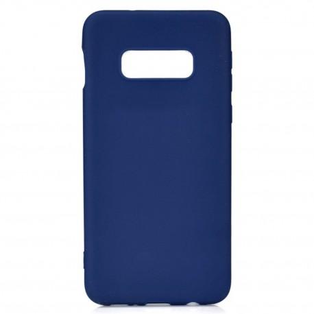 Cover per Samsung S10E G970 serie Soft-Touch Stileitaliano® morbida opaca BLU