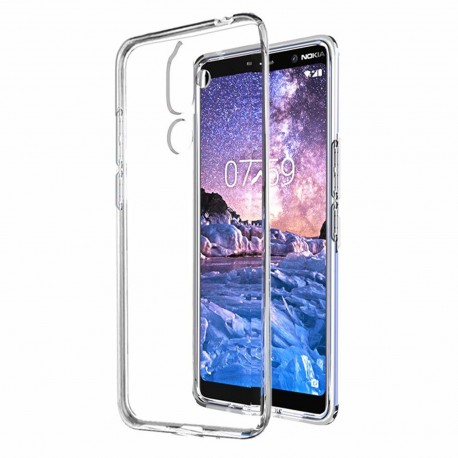 Cover Morbida per Nokia 7 Plus Serie ULTRASOFT Stileitaliano® in TPU Trasparente