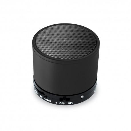 Mini Cassa Rotonda Bluetooth universale con  speaker da 3W Nera
