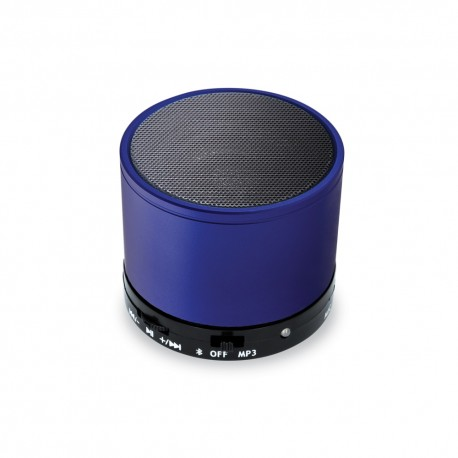Mini Cassa Rotonda Bluetooth universale con  speaker da 3W Blu