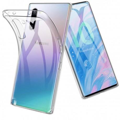 Cover Morbida per Samsung Note 10 N970 Serie ULTRASOFT Stileitaliano in silicone TPU sottile Trasparente