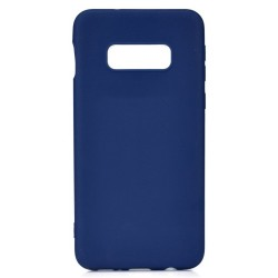 Cover per Samsung A60 A606 serie Soft-Touch Stileitaliano® morbida opaca BLU