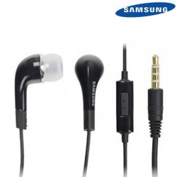 Cuffie auricolari ORIGINALI Samsung EHS64AVFBE jack 3,5mm universali con microfono NERE