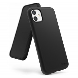 Cover per IPHONE XR serie Soft-Touch Stileitaliano® morbida opaca NERA -