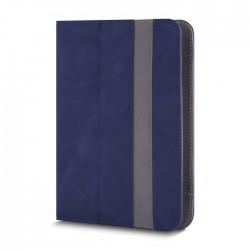 Cover  TABLET 9 - 10 POLLICI Fantasia con GANCI angolari blu